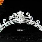 Silver bridal crystal comb,bridesmaid hair accesssories,wedding tiara regal h258**FREE SHIPPING