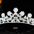 Tiara Bridal Comb, alloy silver Crystal Floral Hair Comb Tiara style, Wedding hair Comb h273