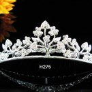 Tiara Bridal Comb,Crystal Floral alloy silver Hair Comb Tiara style, Wedding hair Comb  h275