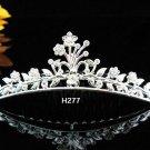 Tiara Bridal Comb, Pearl Crystal Floral Hair Comb Tiara style, silver alloy wedding hair Comb h277