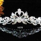 Handmade silver bridal crystal comb,bridesmaid hair accessories,wedding tiara regal h279