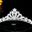 Handmade silver bridal crystal comb,bridesmaid hair accessories,wedding tiara regal h280