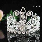 Handmade silver bridal crystal small crown,wedding hair accessories,wedding tiara regal 8770