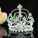 Silver wedding bridal crystal small crown handmade hair accessories,wedding tiara regal 8776