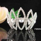 Silver wedding bridal small crown bridesmaid hair accessories tiara regal 6928