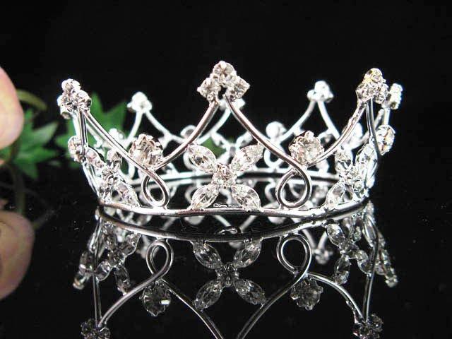 Silver bride bridal crystal small crown,bridesmaid bridal hair accessories,delicate tiara regal 3409