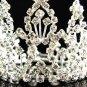 Handmade Silver bridal tiara small crown,wedding hair accessories,delicate regal 5029