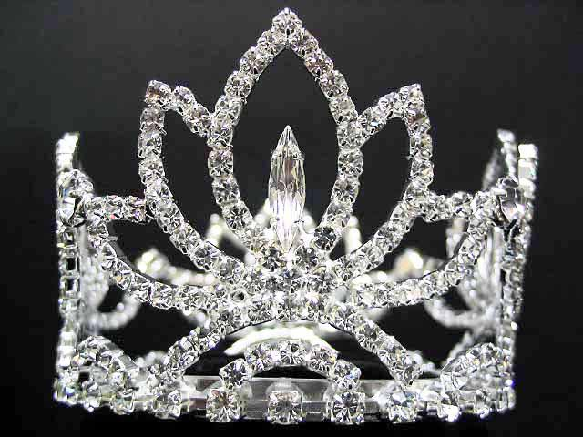 Silver bride bridal tiara crystal small crown, bridesmaid hair accessories tiara#2421
