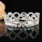 Handmade Silver bride  bridal crystal small crown, wedding hair accessories delicate tiara 2427