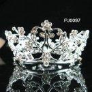 Silver bridal tiara, bride alloy small crown, bridesmaid wedding hair accessoriesPJ97