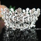 Silver handmade bridal small crown,wedding alloy hair accessories,tiara regal PJ111