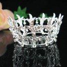 Silver bride bridal crystal alloy wedding small crown,handmade bridesmaid hair accessories PJ122