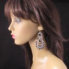 FANCY DANGLE ALLOY WEDDING RHINESTONE ACRYLIC HANDMADE HOOK BRIDAL EARRINGS SET E1
