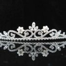 handmade bridal headpiece wedding accessories hair silver crystal pearl tiara 6812