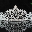 handmade bridal headpiece wedding accessories hair silver sparkle crystal tiara 115