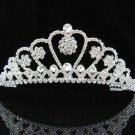 handmade bridal headpiece wedding accessories silver swarovski sparkle crystal tiara PJ150