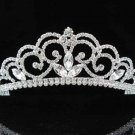 handmade bridal headpiece wedding accessories silver swarovski sparkle crystal tiara pj155