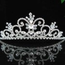 handmade bridal headpiece wedding accessories silver swarovski sparkle crystal tiara pj161