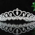 handmade bridal headpiece wedding accessories silver swarovski sparkle crystal tiara pj191
