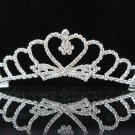 handmade bridal headpiece wedding accessories silver swarovski sparkle crystal tiara pj200