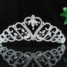 handmade bridal headpiece wedding accessories silver swarovski sparkle crystal tiara pj204