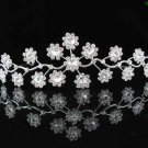 handmade bridal headpiece wedding accessories silver swarovski sparkle crystal tiara pj211