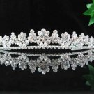 handmade bridal headpiece wedding accessories silver swarovski sparkle crystal tiara pj392