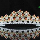 handmade bridal headpiece wedding accessories silver swarovski sparkle crystal tiara pj407