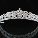handmade bridal headpiece wedding accessories silver swarovski sparkle crystal tiara pj417