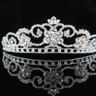 bridal headpiece wedding hair accessories silver swarovski crystal bride tiara pj418