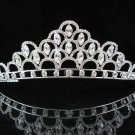 handmade bridal headpiece wedding accessories silver swarovski sparkle crystal tiara pj466