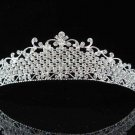 handmade bridal headpiece wedding accessories silver swarovski sparkle crystal alloy tiara pj542