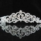 handmade bridal headpiece wedding accessories silver swarovski sparkle crystal alloy tiara pj652
