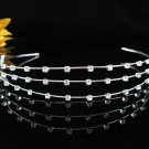 handmade regal wedding accessories metal silver rhinestone sparkle bridal crystal tiara P947S