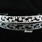 handmade wedding accessories metal silver rhinestone headband sparkle bridal crystal tiara 2492S