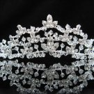 handmade wedding accessories metal swarovski silver rhinestone sparkle bridal crystal tiara 184