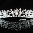 Crystal pearl wedding accessories metal swarovski silver rhinestone sparkle bridal tiara 250