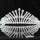 Crystal handmade wedding accessories metal swarovski silver rhinestone sparkle bridal tiara 66