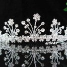 Crystal handmade wedding accessories metal floral silver rhinestone sparkle bridal tiara 282
