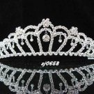 Crystal handmade wedding accessories elegance metal silver rhinestone sparkle bridal tiara 658