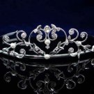 Crystal handmade sweetheart wedding accessories metal silver rhinestone sparkle bridal tiara 1395