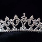 Crystal handmade wedding accessories silver metal rhinestone headpiece bridal tiara band 509S