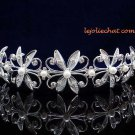 CRYSTAL handmade wedding accessories metal silver rhinestone sparkle headband bridal tiara 4346