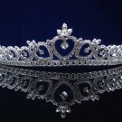 CRYSTAL handmade wedding accessories silver rhinestone sparkle sweetheart bridal tiara 4124s