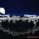CRYSTAL handmade wedding accessories silver rhinestone sparkle SWAROVSKI vine bridal tiara 4884