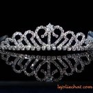 handmade wedding accessories silver metal sweetheart rhinestone band sparkle bridal tiara regal 7180