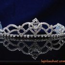 handmade wedding accessories silver metal sweetheart rhinestone band sparkle bridal tiara regal 7183