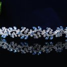 handmade wedding accessories swarvoski silver metal rhinestone band sparkle bridal tiara headband 46