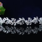 handmade wedding accessories swarvoski silver metal rhinestone sparkle bridal tiara headband 46s