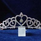 handmade wedding accessories swarvoski silver metal rhinestone sparkle bridal tiara headpiece 789